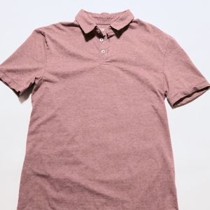 H&M Polo Shirt Slim-fit SMALL Dark Pink/Red